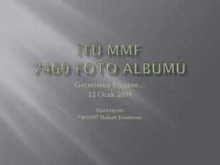 İTÜ-MMF 7469 Foto albümü