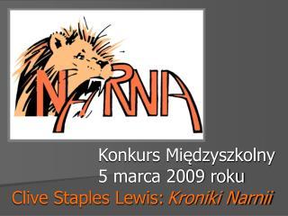 Konkurs Międzyszkolny  5 marca 2009 roku