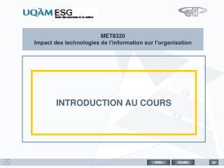 MET8320 Impact des technologies de l'information sur l'organisation