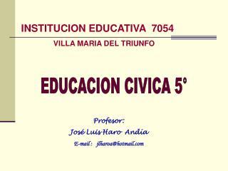 INSTITUCION EDUCATIVA  7054 VILLA MARIA DEL TRIUNFO