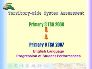 Primary 3 TSA 2004  Primary 6 TSA 2007