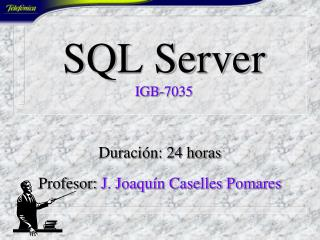 SQL Server IGB-7035
