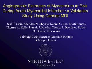 Angiographic Estimates of Myocardium at Risk During Acute Myocardial Infarction: a Validation Study Using Cardiac MRI