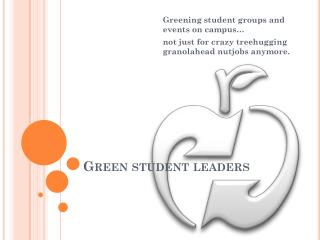 Green student leaders