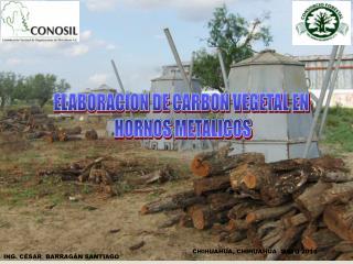 ELABORACION DE CARBON VEGETAL EN  HORNOS METALICOS