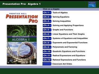 Presentation Pro:  Algebra 1