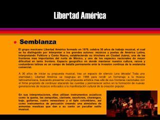 Libertad Am�rica