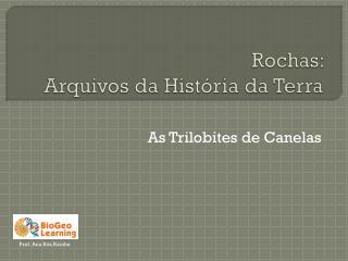 Rochas:  Arquivos da História da Terra