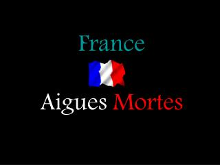 France Aigues Mortes