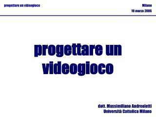 dott. Massimiliano Andreoletti Università Cattolica Milano