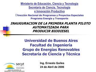 Universidad de Buenos Aires Facultad de Ingeniería  Grupo de Energías Renovables