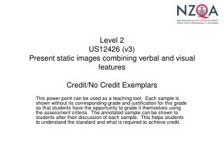 Level 2 US12426 v3 Present static images combining verbal and visual features  Credit