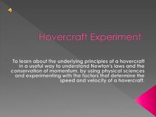 Hovercraft Experiment