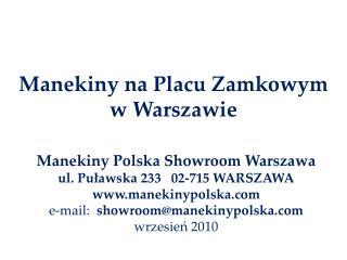 Manekiny na Placu Zamkowym  w Warszawie
