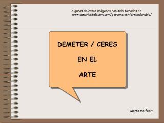 DEMETER / CERES  EN EL ARTE