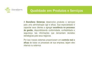 Qualidade em Produtos e Serviços