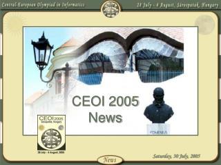 CEOI 2005 News