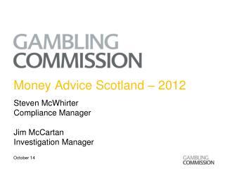 Money Advice Scotland – 2012