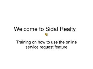 Welcome to Sidal Realty