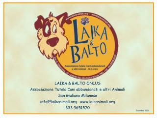 LAIKA & BALTO ONLUS Associazione Tutela Cani abbandonati e altri Animali San Giuliano Milanese