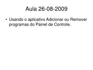 Aula 26-08-2009