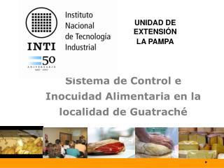 Sistema de Control e Inocuidad Alimentaria en la localidad de Guatraché