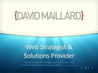 Web  Strategist  &  Solutions Provider
