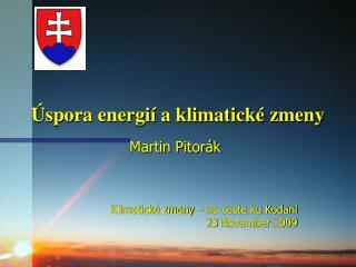 Úspora energií a klimatické zmeny