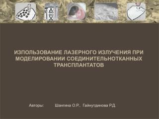 Авторы:          Шангина О.Р.,  Гайнутдинова Р.Д.