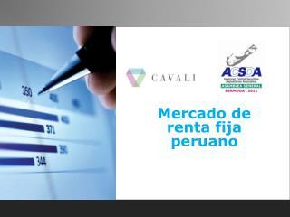 Mercado de renta fija peruano