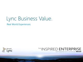 Lync Business Value.