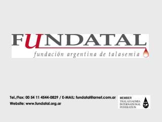 Tel./Fax: 00 54 11 4544-0829 / E-MAIL:  fundatal@arnet.ar Website: fundatal.ar