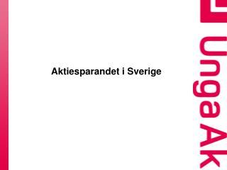 Aktiesparandet i Sverige