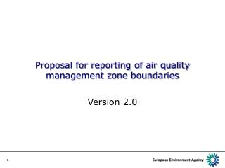 Proposal for reporting of air quality management zone boundaries