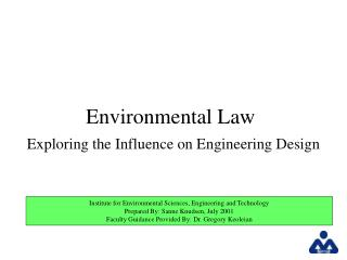 Environmental Law  Exploring the Influence on Engineering Design