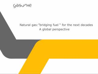 "Natural gas:""bridging fuel "" for the next decades 		A global perspective"