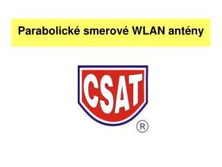 Parabolické smerové WLAN antény