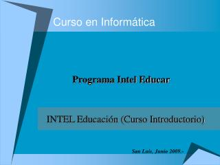 Curso en Informática