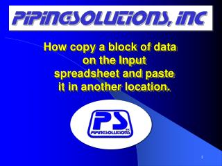 How copy a block of data from Input spreadsheet and paste it in another location.