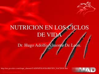 NUTRICION EN LOS CICLOS DE VIDA