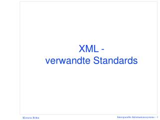 XML -  verwandte Standards
