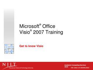 Microsoft  Office  Visio  2007 Training