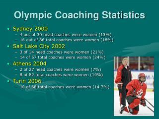 Olympic Coaching Statistics