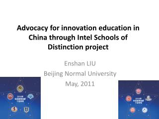 Advocacy for innovation education in China through Intel Schools of Distinction project