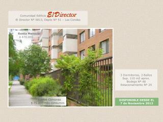3 Dormitorios, 3 Baños Sup. 110 m2 aprox. Bodega Nº 48 Estacionamiento Nº 25