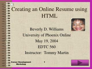 Creating an Online Resume using HTML
