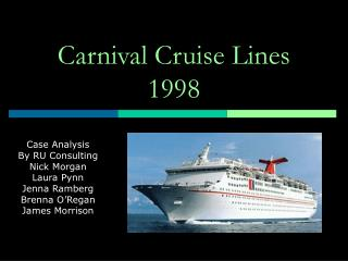 Carnival Cruise Lines 1998