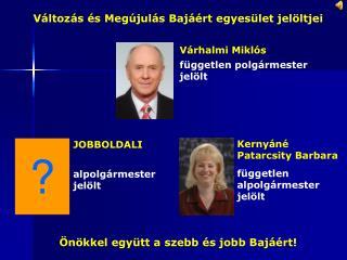 független alpolgármester jelölt