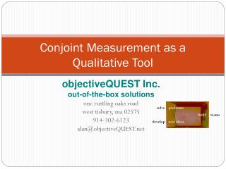 Conjoint Measurement as a Qualitative Tool