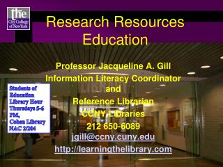 Research Resources Education